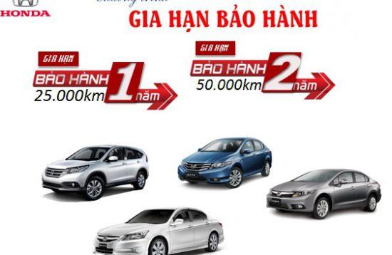 BẢO HÀNH CHÍNH HÃNG HONDA